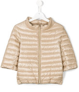 Herno Kids - cropped sleeves padded jacket - kids - Feather Down/Polyamide - 10 yrs