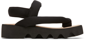 Issey Miyake Black United Nude Edition Bounce Sandals
