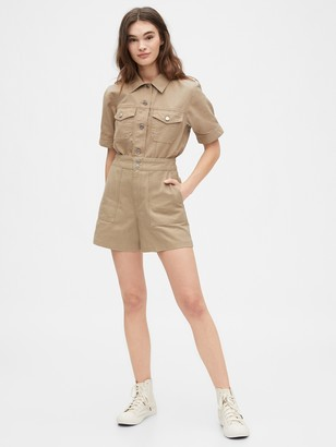 Gap Originals High Rise Utility Khaki Shorts