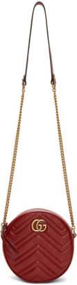 Gucci Red Mini Round Marmont Bag