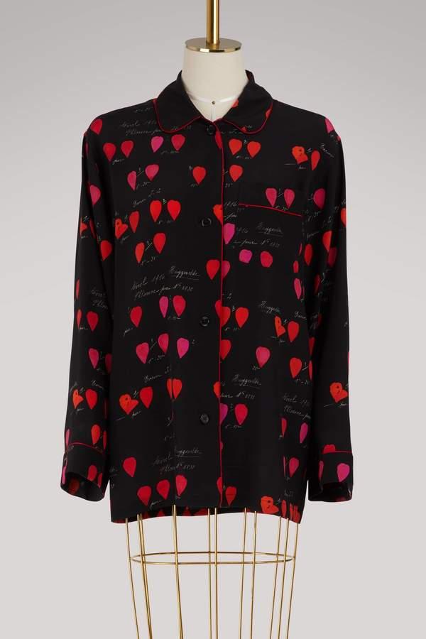 Alexander McQueen Silk pajama top