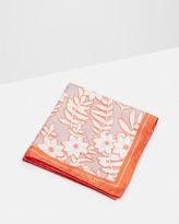 Large Floral Print Pocket Square