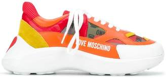 Love Moschino panelled sneakers