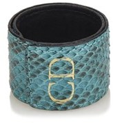 Christian Dior Pre-owned: Embossed Leather Cuff.