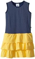 Toobydoo Sweet Summer Navy Yellow Tank Dress Girl's Dress