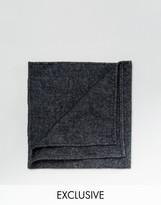 Reclaimed Vintage Black Pocket Square
