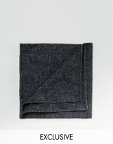 Reclaimed Vintage Inspired Black Pocket Square
