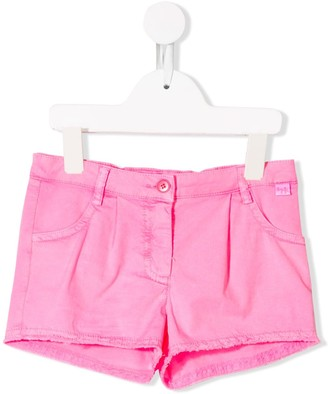 Il Gufo Fringed Shorts