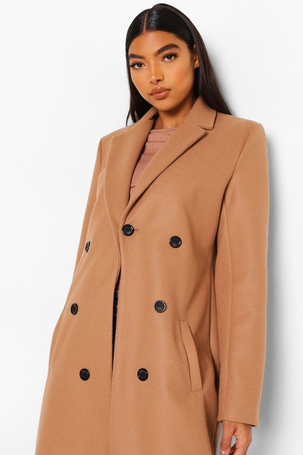 Thumbnail for your product : boohoo Tall Double Breasted Coat