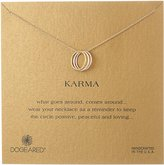 "Dogeared Karma"" Yellow and Rose Gold-Plated Sterling Silver Three-Ring Necklace, 18"""