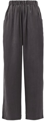 Worme - The Standard Flare Silk Trousers - Black