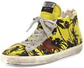 Golden Goose Deluxe Brand Men's Francy Men's Palm-Print High-Top Sneaker