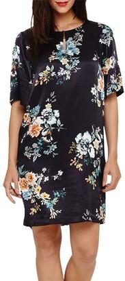 Phase Eight Zadie Floral Print Dress, Black/Multi