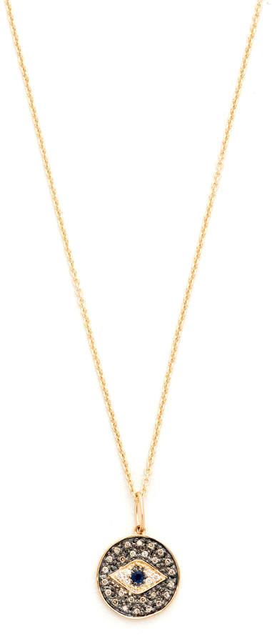 Sydney Evan Small Eye Disc Necklace