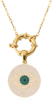 GABIRIELLE JEWELRY Gold Over Silver Cz Necklace