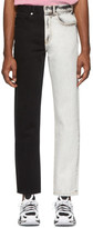 Alexander Wang White and Black Bicolor Five-Pocket Jeans