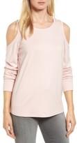 Gibson Petite Women's Cold Shoulder Sweatshirt