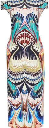 Mary Katrantzou Ireson Off-the-shoulder Printed Stretch-jersey Midi Dress