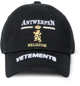 Vetements Antwerp logo cotton baseball cap