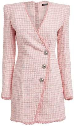 Balmain Tailored Boucle Tweed Dress