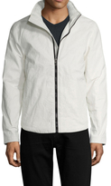 James Perse Linen Coated Full-Zip Jacket