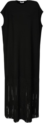 Balenciaga Jersey Long Dress W/ Fringes