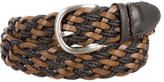 Etro Woven Leather-Trimmed Belt