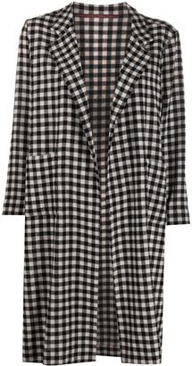 Daniela Gregis Oversized Check Coat