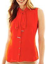 JCPenney Worthington® Sleeveless Bow Blouse