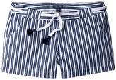 Tommy Hilfiger Stripe Shorts with Novelty Belt Girl's Shorts