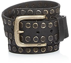 John Varvatos Men's Studded Leather Belt, 38mm