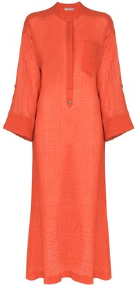 Three Graces August semi-sheer kaftan dress