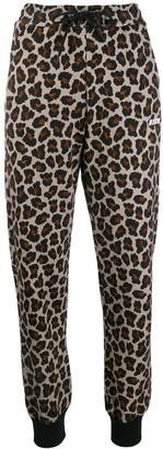 MSGM Leopard Print Track Pants