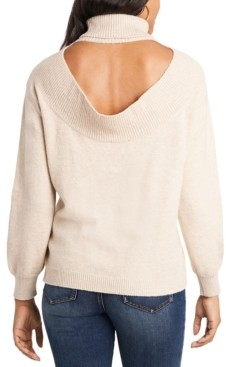 1 STATE Open Back Turtleneck Sweater