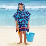 Bed Bath & Beyond Kids' Shark Velour Hooded Towel in Light Blue/Navy