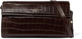 Halston Croc-effect leather shoulder bag