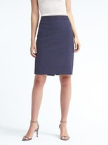 Banana Republic Lightweight Wool Navy Pencil Skirt