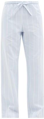 Derek Rose Arctic 21 Striped Brushed-cotton Pyjama Trousers - Blue Stripe