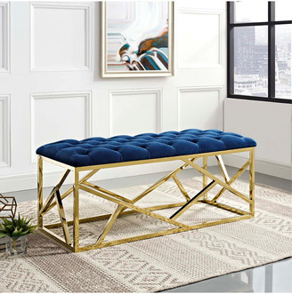 Modway Intersperse Velvet Bench