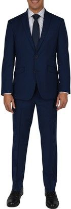 Kenneth Cole Reaction Nested Modern Blue Two Button Notch Lapel Slim Fit Suit