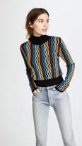 Diane von Furstenberg Cropped Turtleneck Pullover