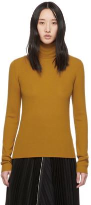McQ Orange Wool Basic Roll Turtleneck