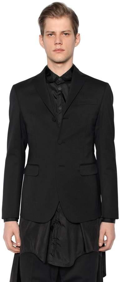 DSQUARED2 Stretch Wool Jacket W/ Vest Detail