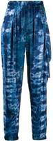 Raquel Allegra Tie Dye Print Tapered Trousers