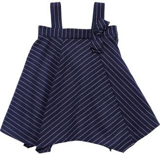 Il Gufo Stripes Blend Dress W/ Suspenders