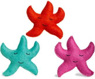 WARE OF THE DOG Set of 3 Wool Starfish Cat Toys