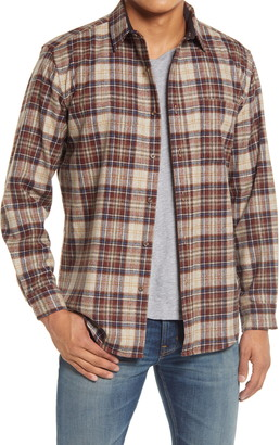 Pendleton Lodge Plaid Button-Up Wool Flannel Shirt