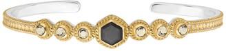 Anna Beck 18K Gold Plated Grey Sapphire & Pyrite Cuff Bracelet