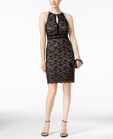 Night Way Nightway Nightway Petite Lace Halter Sheath Dress