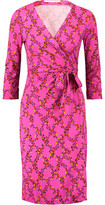 Diane von Furstenberg Julian Printed Silk Wrap Mini Dress